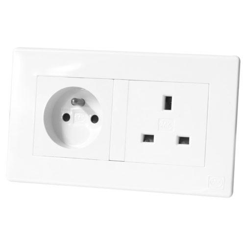 Socket 16A2PE 13A Avant White
